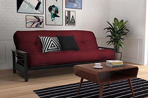 DHP 8' Independently Encased Coil Futon Mattress, with CertiPUR-US  certified foam, Merlot
