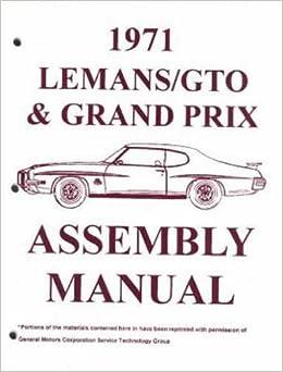 1971     PONTIAC  GTO//LEMANS//T-37  OWNER/'S  MANUAL
