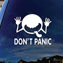 "Don't Panic Galaxy Car Window Vinyl Decal Sticker 5"" Wide"