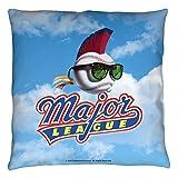 Major League Sports Comedy Movie Baseball League Logo Throw Pillow
