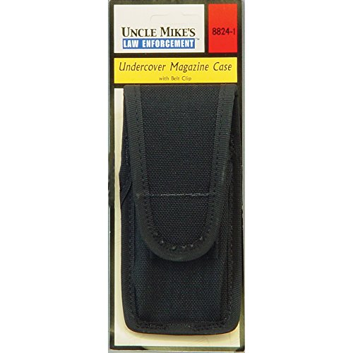 (Uncle Mike's Off-Duty and Concealment Accessory Kodra Undercover Pistol Mag Case, Black)