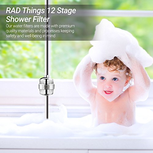 RAD Things Shower filter - Reduces chlorine - water softener and purifies for better hair and skin - safe for babies - 12 stage for all hand held and shower head systems - comes with 2 cartridges by RAD Things (Image #5)