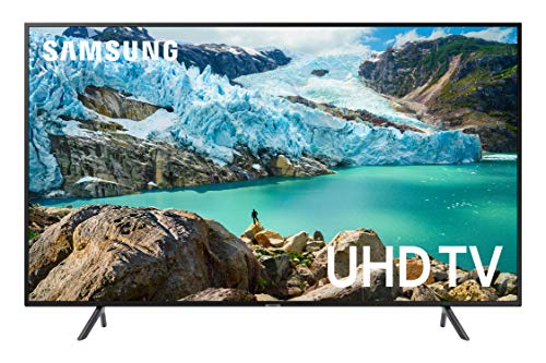 Samsung UN75RU7100FXZA Flat 75-Inch 4K UHD 7 Series Ultra HD Smart TV with HDR and Alexa Compatibility (2019 Model) (80 Inch Flat Screen)