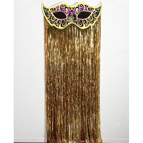 Mystique Masquerade Mask Mardi Gras Door Curtain Masquerade Party Prop Standup Photo Booth Prop Background Backdrop Party Decoration Decor Scene Setter Cardboard Cutout