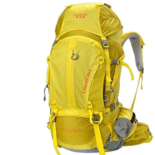 Sincere® Verpackung / Rucksäcke / Mobil / Ultralight im Freienbergschultertasche / Rucksack / Outdoor-Reisetasche 50L-gelb 70L