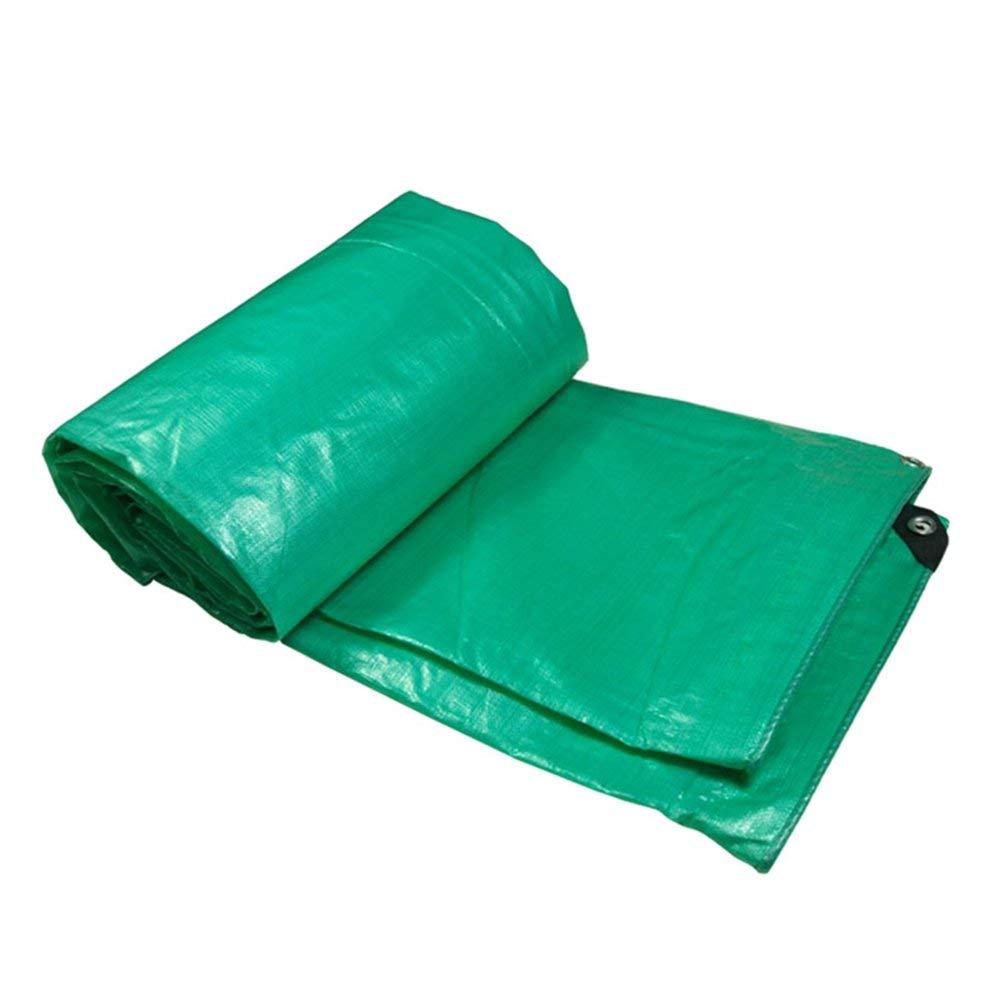 Brass 2 x 4m Der Waterproof and Rainproof Tarpaulin, Freight Factory Sunscreen dustproof and Windproof Truck Cover wear Resistant    Outdoor Tarpaulin Tent Tarpaulin
