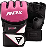 RDX Women's MMA Gloves Grappling Martial Arts Sparring Punching Bag Cage Fighting Maya Hide Leather Mitts UFC Combat Training