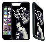 [TeleSkins] - iPhone 7 Plus Rubber Designer Case -Creative Skull Flower ...