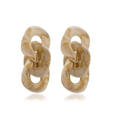 97b958aac2bff Acrylic Chunky Chain Links Geometric Drop Earrings KELMALL COLLECTION
