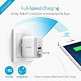 Anker 2-Port 24W USB Wall Charger PowerPort 2 with PowerIQ for iPhone X/ 8/ 7 / 6s / Plus, iPad Air 2 / mini 3, Galaxy S Series, Note Series, LG, Nexus, HTC and More