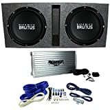 """Hifonics BRZ15D4 Vented Bass Package - 2) 15"""" Subwoofers, 2 Ch. Amp, Box & Wire"""