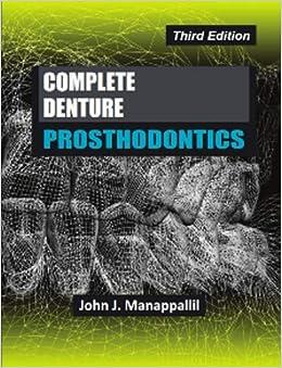 Amazon in: Buy Complete Denture Prosthodontics Third Edition