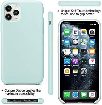 Original Case Ultra Fina L/íquido de Silicona Gel Carcasa Totalmente Protectora Resistente a los ara/ñazos Caucho Suave Protectora Caso Cover Case para Apple 6,1 2019 Fuleadture Funda iPhone 11