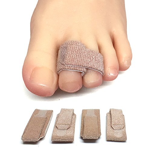 ZenToes Broken Toe Wraps 4 Pack Cushioned Bandages Hammer Toe Separator Splints (Best Treatment For Broken Toe)