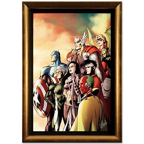 STAN LEE signed AVENGERS Marvel ORIGINAL COMIC Artwork Captain America Thor fr. (Book Comic Original Art)