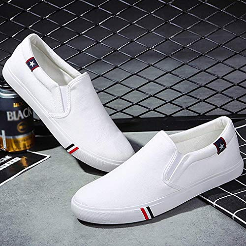 Unisex Adulto Shoes Sneaker Ginnastica Uomo Donna Canvas Bianca Estivi junkai da Sportive Scarpe Basse Slip Scarpe On Mocassini Casual xB1nXTaT8