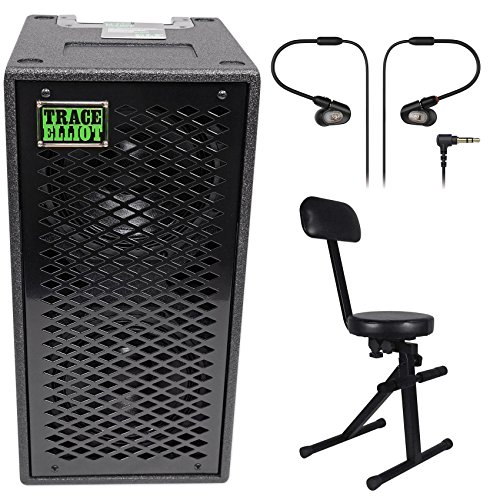 Trace Elliot ELF 2x8 400w Dual 8'' Bass Guitar Speaker Cabinet+In-Ear Monitors by Trace Elliot
