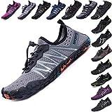 Mens Women Water Sport Shoes Barefoot Quick-Dry Aqua Socks for Beach Swim Surf Yoga Exercise, 11 M US Women / 9.5 M US Men