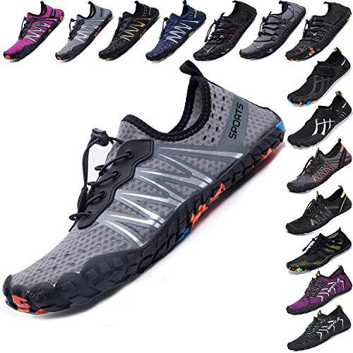 Mens Women Water Sport Shoes Barefoot Quick-Dry Aqua Socks for Beach Swim Surf Yoga Exercise, 14.5 M US Women / 13 M US Men