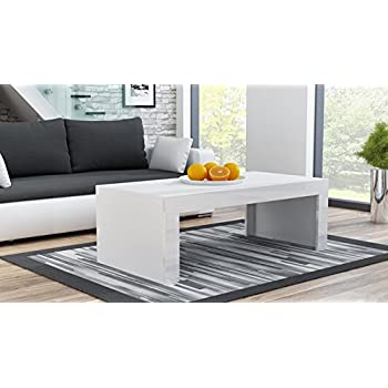 Wonderful MILANO Coffee Table U2013 White Matte Body In Contrast With High Gloss Finish  Of The Laterals