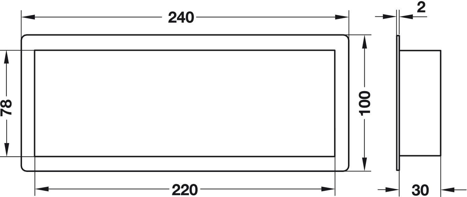 Trous 15,2 x 2,1mm 2 Pi/èces Maison Salon 41x175mm Porte de Salle de Bain Bureau Plastique Marron Bouche de Ventilation pour Mur H4123 Cuisine Gedotec Grille Aeration Rectangulaire