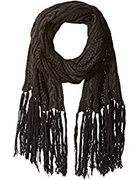 Women's Knit Boucle Scarf with Long Fringe