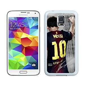 Soccer Player Lionel Messi 67 White Durable Hard Shell Samsung Galaxy S5 I9600 Phone Case