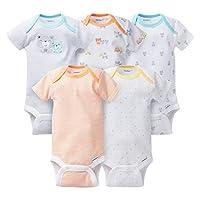 Gerber Unisex-Baby 5 Pack Onesie set - Teddy Bears (Newborn)