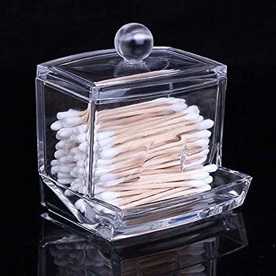 Caxmtu Caja de almacenamiento para bastoncillos de algodón ...