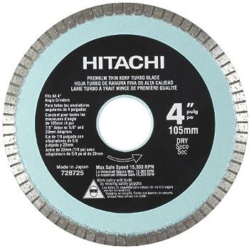 Hitachi 728725 4 Inch Turbo Diamond Saw Blade For Concrete