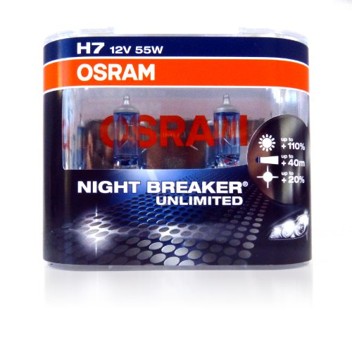 osram night breaker unlimited h7 automotive halogen bulbs. Black Bedroom Furniture Sets. Home Design Ideas