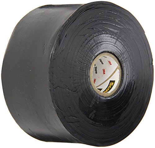 BOX USA BT967130C Black 3M 130C Linerless Electrical Tape, 30 mil, 2