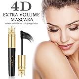 4D False Lash Effect Volumising Thickening Mascara - Longer,Thicker, Voluminous Eyelashes, Long-Lasting, All Day Exquisitely Lush, Full, Long, Thick, Smudge-Proof Eyelashes