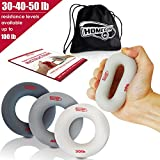Hand Strengthener Grip Rings 10-100LB - MULTIPLE RESISTANCE LEVELS - Forearm Grip Strength - Quickly Increase Your Hand Strength - Finger Exerciser - Best Hand Exerciser Grip Strengthener