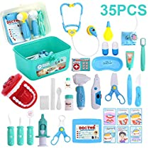 Hamney Kids Toys Doctor Kit, Medical Kit with 35 Pieces Dentists Equipment, Pretend Holiday/Birthday Gift for Kids Doctor Roleplay, Packed in a Sturdy Gift Case