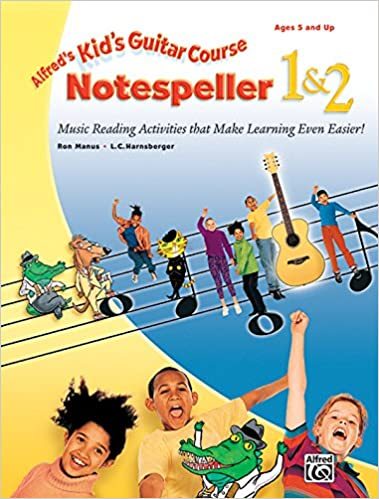 alfreds kids guitar course notespeller 1 2 music reading activities that make learning even easier
