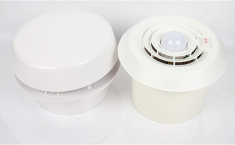 Exhaust Cooling Fan - MASO Car 12V RV Motorhome Roof Vent Ventilation Cooling Exhaust Fan Noiseless Energy-saving for Homes Trailer Travel Caravan (Fan Shell + 2-speed Adjustable Fan + LED Light)