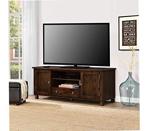 Furniture San Antonio Veneer Wood TV Stand Espresso Premium Office Home Durable Strong (Furniture San Clearance Antonio)