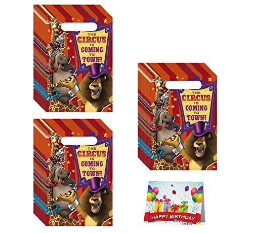 Madagascar Birthday Party Favor Treat Bags Bundle Pack of 24
