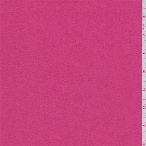 Berry Pink Stretch Sateen, Fabric By the Yard (Cotton Stretch Sateen Fabric)