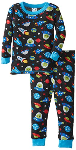 Gerber Baby Boys Infant 2 Piece Boy Thermal Pajamas Space