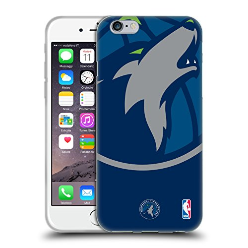 fan products of Official NBA Oversized Icon Minnesota Timberwolves Soft Gel Case for Apple iPhone 6 / 6s