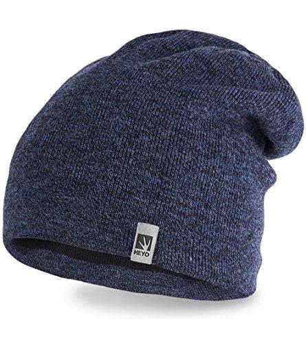 Wintermütze | HEYO H16012 | warme Mütze für Herren | Slouch Beanie ...