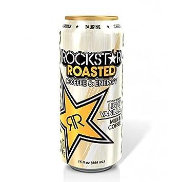 Amazoncom 4 Pack Rockstar Roasted Coffee Energy Light