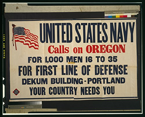 (Vintography WWI Reproduced Image of United States Navy Calls on Oregon [.] 1917 0)