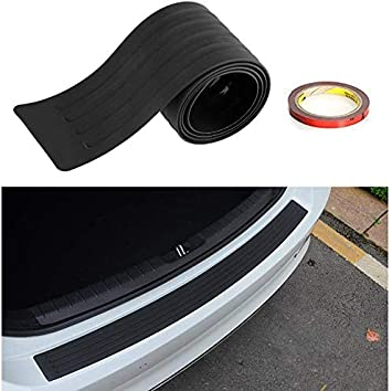 41 inches Rear Bumper Protector Guard Universal Black Rubber Scratch-Resistant Trunk Door Sill Protector Exterior Accessories Trim Cover for SUV//Cars DIY Car Accessories Decoration