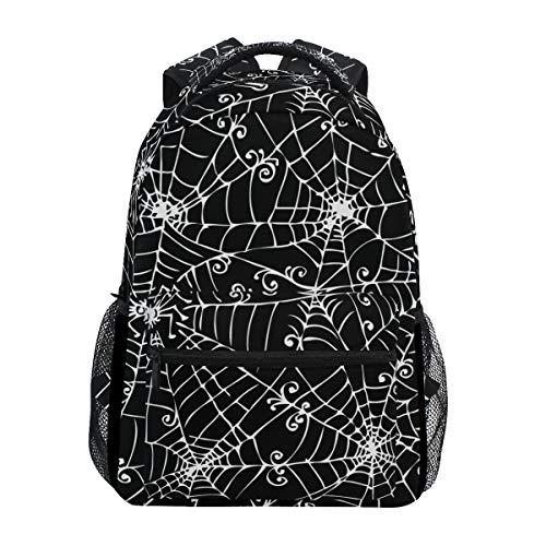 U LIFE Backpack School Bags Laptop Casual Bag for Boys Girls Kids Men Women Cute Halloween Spooky Spider -