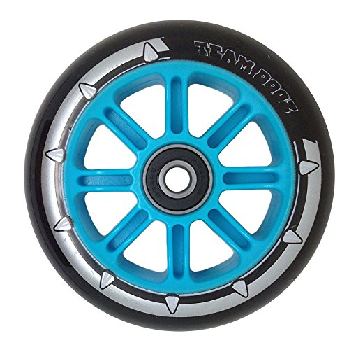 Nylon Core 100mm Scooter Wheel with ABEC7 Bearings and 88A PU Rubber MGP Razor wheels black and blue (1 pcs) (Mgp V2)