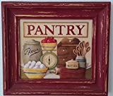 3d Embossed Material Distressed Red Wood Frame Wall Art Home Kitchen Decor Painting