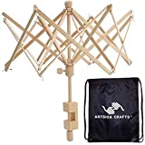 Artsiga Crafts Yarn Swift Winder Umbrella Wooden Large 25 inches Long with Large Project Bag